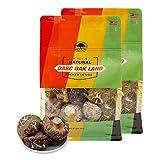 花菇以天然树木培植而成,菇味浓郁,營養价值高。 花菇肉厚色浅,色泽均勻,菇身干燥及花纹明显为品质上乘货。 开袋后的花菇存放于干燥低温地。建议置于冰箱 Storage method Sealed storage.