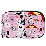 Bolsa de cosméticos para Mujeres Gatos y Setas sin Fisuras Bolsas de Maquillaje espaciosas Neceser de Viaje Organizador de Accesorios