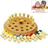 Hölzernes Gedächtnis-Schachbrett-Eltern-Kind-Interaktionsspiel, Farbgedächtnis-Match-Stock-Schachspiel-pädagogisches Spielzeug-Set für Kinder Erwachsene -
