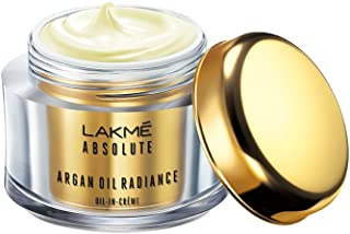 Lakme Absolute Argan Oil Radiance Oil-in-Creme, Spf 30, Day Cream With Moroccan Argan Oil, Lightweight, Non Greasy For Sof...