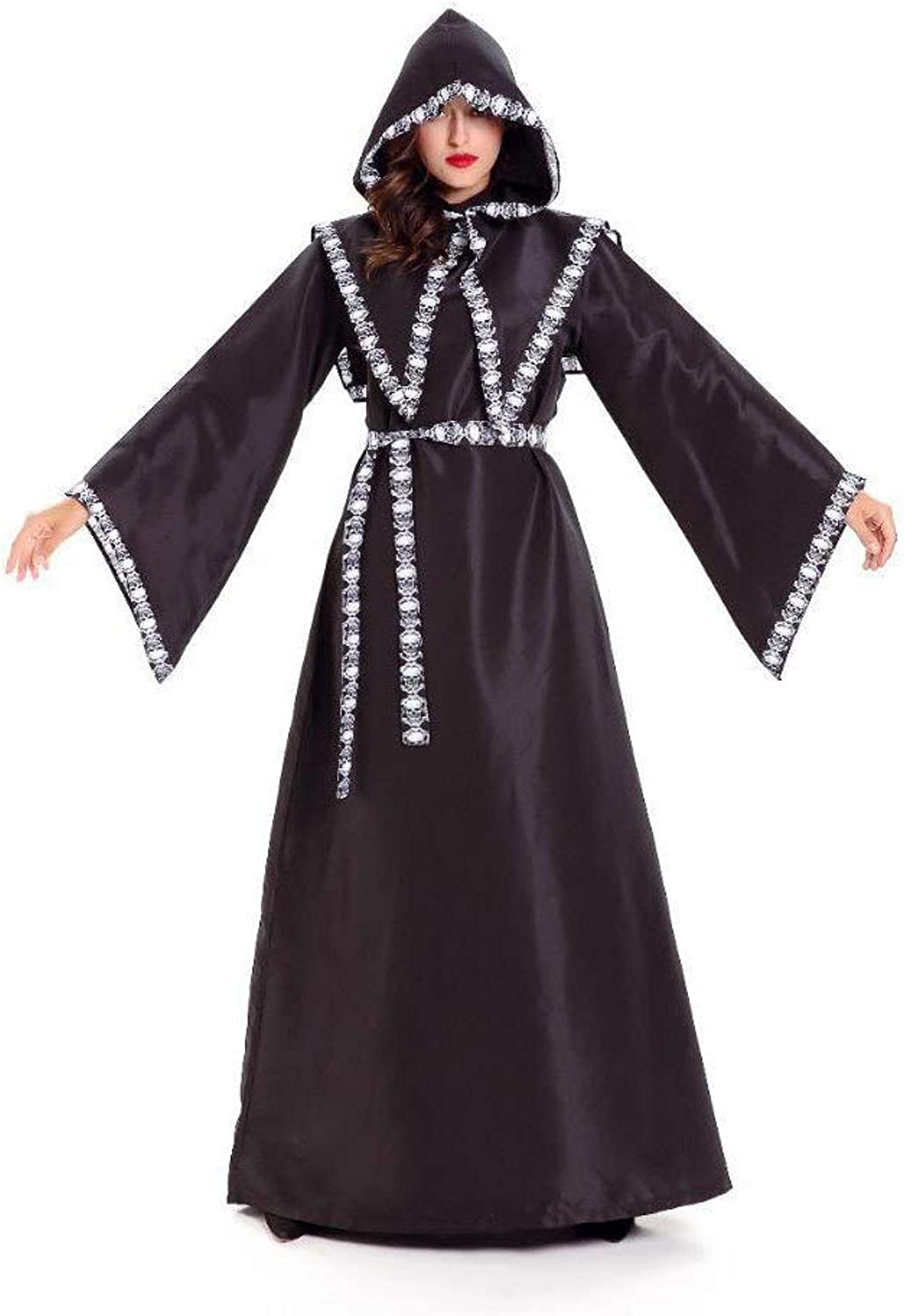 Yunfeng Witch Costume Long Hooded Witch Demon Halloween Night Ghost Game Costume