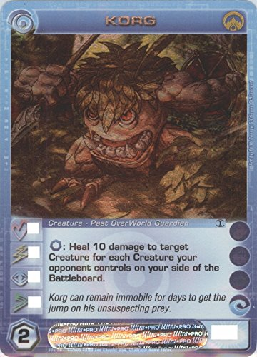 Chaotic KORG Super Rare FOIL Creature-Past OverWorld Guardian Card # S06/026 (Random Stats)