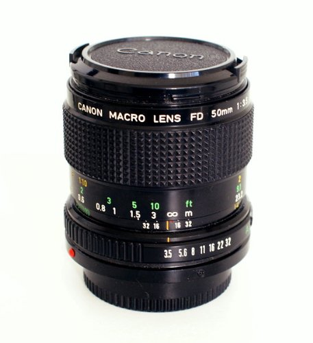 Canon Fd 50mm F3.5 Macro Lens for Manual Focus Canon A- And T-series Film Cameras