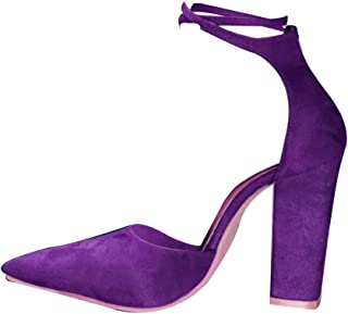 Inlefen Female Rubber Sole Pointed Toe Front Strappy Large Size Heeled Sandals