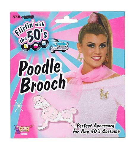 Forum Novelties 50's Poodle Pin Costume Jewelry One Siz