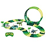 QTDLXFA Dinosaur Toys 134Pcs Race Track, Road...