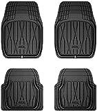 3D MAXpider 2099L-09-FR4 Universal Allwetter Hybrid Gummi Fußmatten für Auto LKW SUV (4 Stück, schwarz)