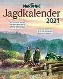 Marunde Jagdkalender - Kalender 2021 - Lappan-Verlag - Wandkalender - Monatskalender mit Cartoons zum Thema Jagd - 35 cm x 44 cm