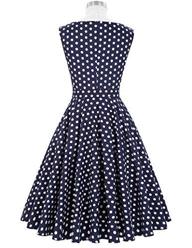 Damen Petticoat Kleider 50er Festliche Kleider Knielang XL BP002-33 - 2