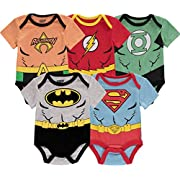 DC Comics Baby Boys' Infant Onesies Custome Bodysuit, 5Pack-Multicolor, 24 Months