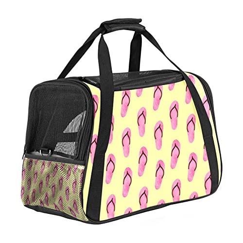 Bolsa de transporte para mascotas de verano, bolsa de mano portátil, apertura superior, alfombrilla extraíble y malla transpirable, bolsa de transporte para perros y gatos