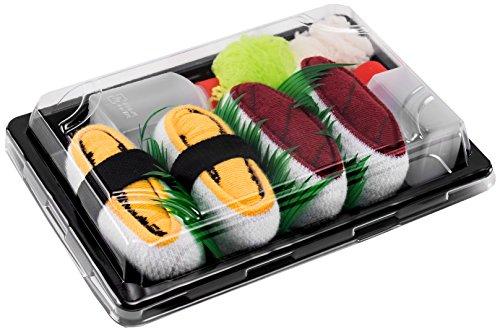 Rainbow Socks - Mujer Hombre Calcetines Sushi Atún Tamago - 2 Pares - Tamaño 41-46