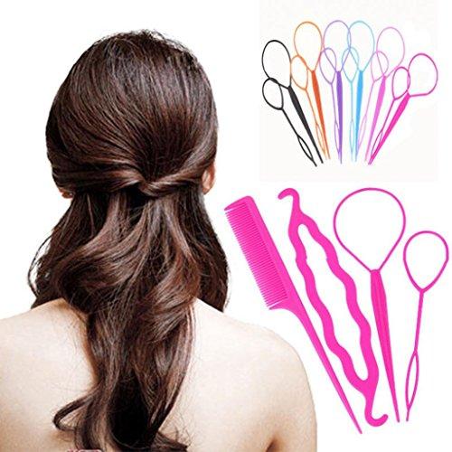 Austinstore Styling Clip Bun Maker Cheveux Design accessoire de Twist Braid Outil de queue de cheval