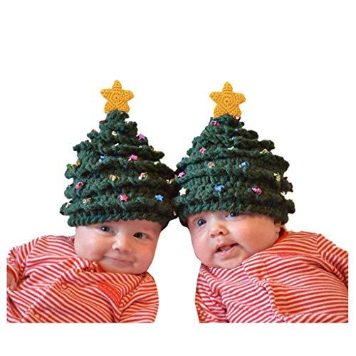 Wyongtao 2020 Niño pequeño, niña y niño, bebé, Navidad, Ganchillo, Tejido, Estrellas,...