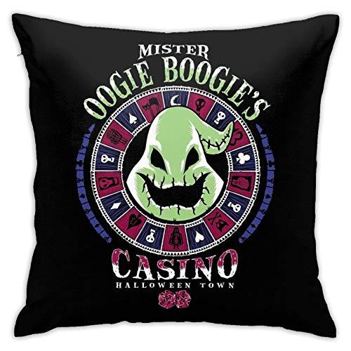 ZHENGYUAN Oogie 'S Casino Tapisserie Kissenbezug, Autokissen, Sofa, Kissenbezug, Innendekoration (45cmx45cm)