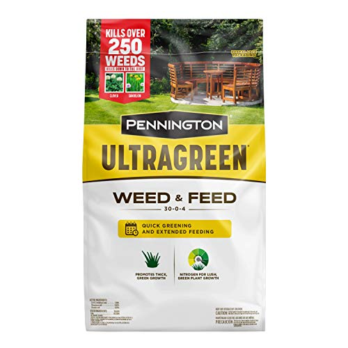 Pennington 100536600 UltraGreen Weed & Feed Lawn Fertilizer, 12.5 LBS, Covers 5000 Sq Ft