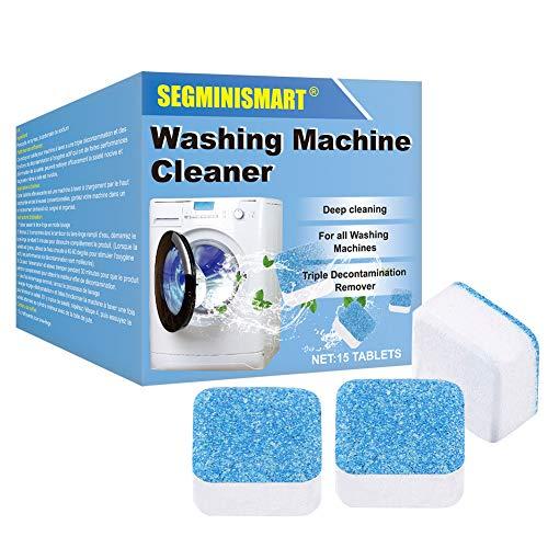 SEGMINISMART Detergente effervescente per lavatrice,Lavatrice Pulitore Rondella Pulizia Profonda Compressa effervescente Cleaner