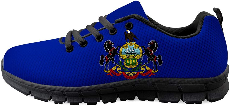 Owaheson Laceup Sneaker Training shoes Mens Womens Pennsylvania Flag
