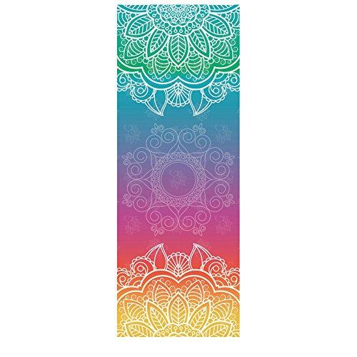 DOXUNGO Doppelter Samt rutschfeste Yoga Handtücher,rutschfest saugfähig und hitzebeständig Premium Yogatuch, Yoga Towel Geeignet für heißes Yoga (A)