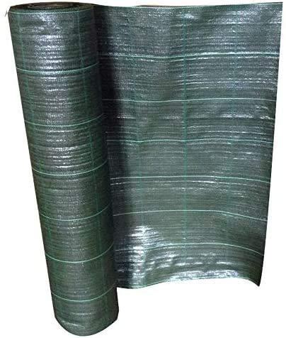 TOILE DE PAILLAGE VERTE MT FONCÉ 100 x 1-ROULEAU ANTI-DÉCHIRURE