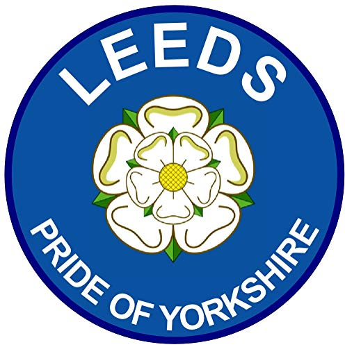 Leeds - Pride of Yorkshire (Two Pack) Car Bumper/Laptop/Window/Decal/Sticker