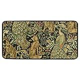 Paillassons Tapis Tapis Tapis de Sol William Morris Imprime Vintage forêt Lapin Loup Animal pour Salon Maison Chambre décoratif antidérapant 39 × 20in