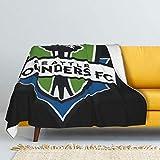 RUIHGK Seattle Sounders Flannel Fleece Blanket, Warm Throw Lightweight Blanket Microfleece Ultra Soft Blanket for Sofa Bedroom