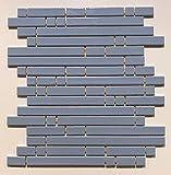 Mosaico sobre red de gres porcelánico de cerámica, fabricado en Italia – Pyper 684 turquesa