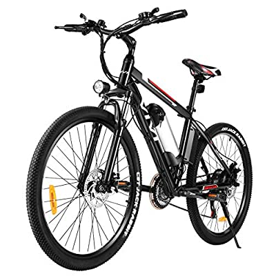 """VIVI Electric Bike Electric Mountain Bike for Adults, 26"""" Electric Bicycle 350W Ebike 20MPH with Removable 8Ah Lithium-Ion Battery, Professional 21 Speed Gears"""