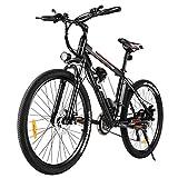 Vivi Vélo Électrique Vélo de Montagne Électrique pour Adulte, 26 Pouces Velo Electrique 350W Ebike de avec Batterie Lithium-ION Amovible 8Ah, Professionnel 21 Vitesses (26 Pouces - Noir)