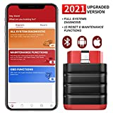 Thinkcar Bluetooth OBD2 Scanner, Full System Code Reader with 15 Reset Service, Car Diagnostic Tool for iPhone&Android, IMMO, ABS, WiFi Update