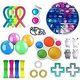 Sensory Fidget Toys Set, Sensory Toys Pack barato para niños y adultos, Bubble per Fidget Toy Stress Anxiety Relief Toys para TDAH Autismo Necesidades Especiales, Surtido de juguetes especiales