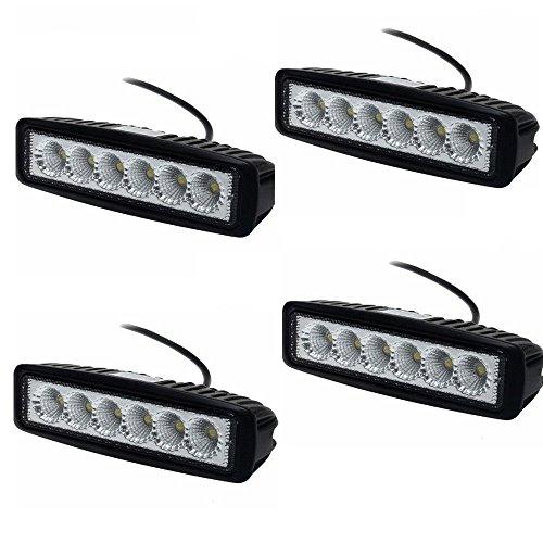 MCTECH 18 W Auto LED Light Bar Offroad faro faro faro faro faro faro faro faro faro faro luce nebbia impermeabile IP67 per SUV UTV ATV (4 pezzi)