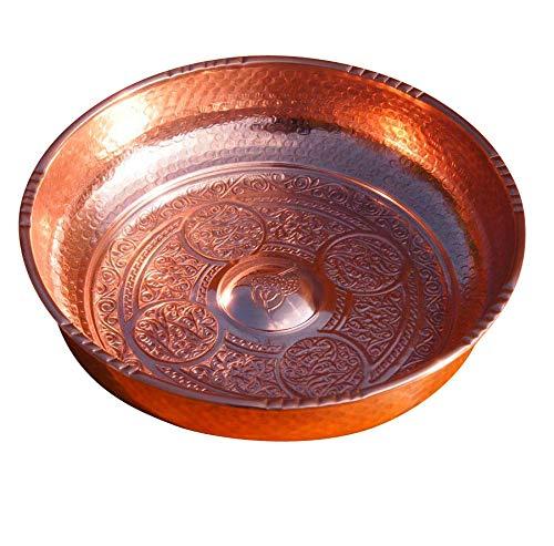 Orient-Feinkost Kupfer Hamam Tasi - Hamamschale - Wasserschale 20cm Durchmesser