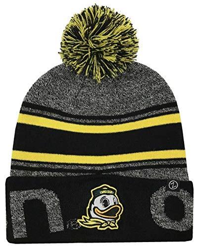 Zephyr Hats University of Oregon Ducks Orbit Knit Hat NCAA College Beanie Cap Yellow