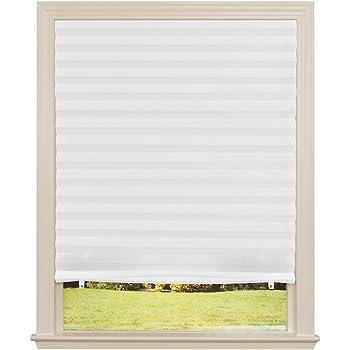 "Original Light Filtering Pleated Fabric Shade White, 36"" x 72"""