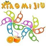 crazy bean Mini Pelador 5 o 10 Peladores de Abrelatas de Frutas Pelador de Naranjas Multifuncional Creativo Anillo Abridor de Plástico Herramientas de Cocina