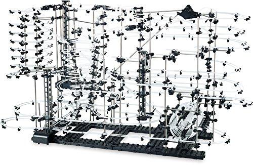 small foot- Circuit à Billes «Extrême» avec 35 m de Longueur, à Monter soi-même, avec loopings et virages Rapides,à partir de 15 Ans Piste, 6732
