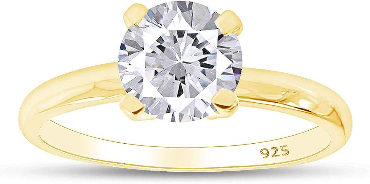 shipfree Jewel Zone Attention brand US Round Cut Cubic White Anniversary Zirconia Solitai