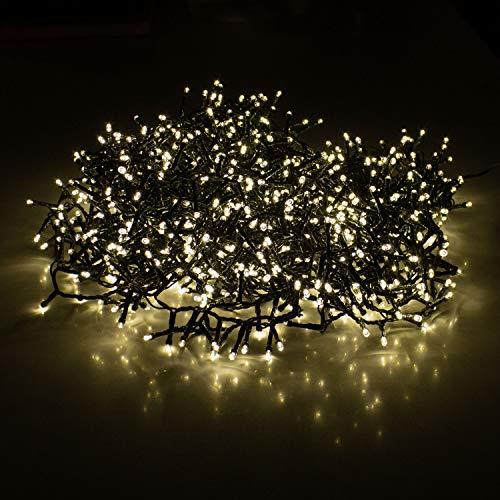 Lichterkette 1200 LEDs 24m 2400cm Warmweiß Innen und Außen Beleuchtung Deko Weihnachten
