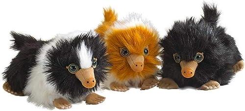 Noble Collection - Komplet Set 3 Plüsch Mini Baby NIFFLER 15cm - Phantastische Tierwesen Gründelwalds Verbrechen - Plush offiziell Warner BROS