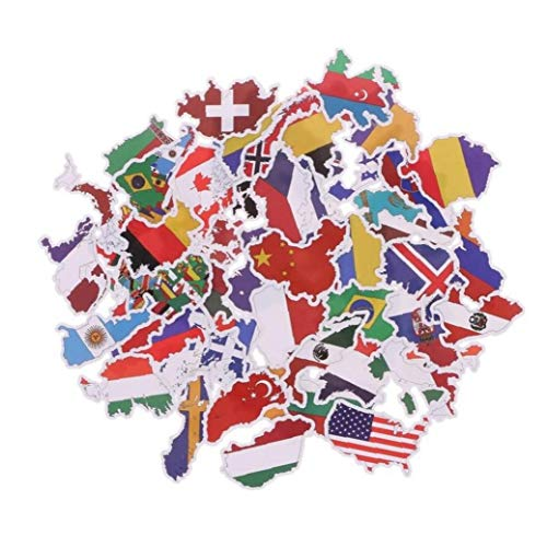 Banderas Nacionales 50PCS pegatinas Juguetes Países