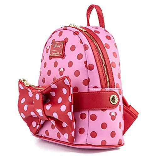 Mochila Pink Polka Dot Minnie Disney Loungefly 31cm