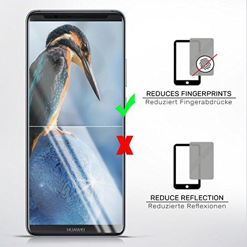 2X Huawei Y7 / Y7 Prime (2017)| Schutzfolie Matt Display Schutz [Anti-Reflex] Screen Protector Fingerprint Handy-Folie Matte Displayschutz-Folie für Huawei Y7 / Y7 Prime (2017) Displayfolie - 3