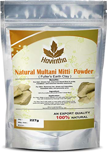 Havintha Natural Multani Mitti Powder Product Of Havintha, Natural Fuller's Earth, 227 g