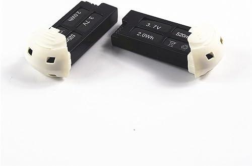 clásico atemporal Wwman 2 Pcs 3.7V 520mAh Lipo Battery Battery Battery for Original Hubsan X4 H107D+ 4 Channel 2.4GHz RC QuadCopter Drone Parts  tienda en linea