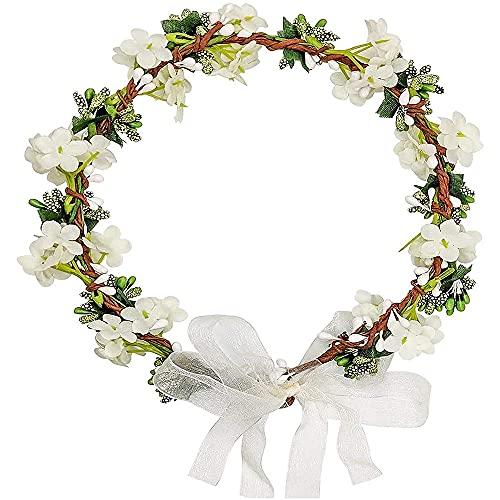 Corona de Flores, Diadema Corona Floral, Tocado de Corona de Pelo, Flor...
