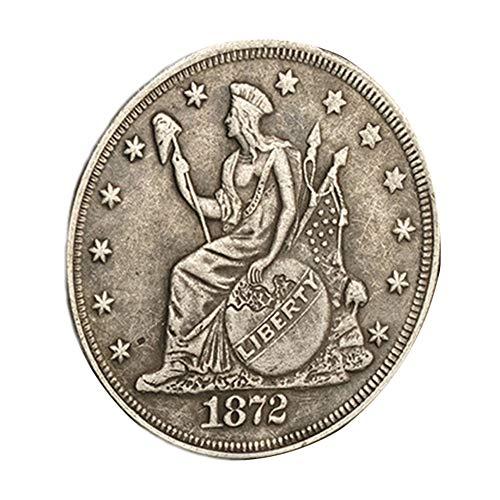 Xinmeitezhubao Münzsammlung, 1872 Amerikanische Silbermünze Antike versilberte Münze Vintage Gedenkmünze