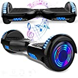 Magic Vida 6.5´´ Patinete Eléctrico Bluetooth Scooter Monopatín Auto-Equilibrio Patín (Negro)