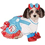Dorothy from the Wizard of Oz costume on dog
